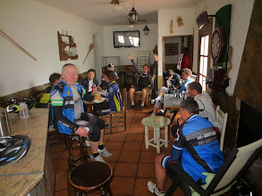 Photo: Bar in Senes, out of the wind for lunch