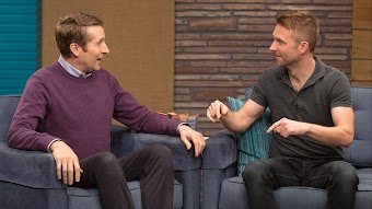 Chris Hardwick Wears a Black Polo & Weathered Boots