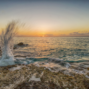 by Joel Eade - Landscapes Waterscapes ( water, splash, awesome, sunset, beautiful, cozumel, perfect, pretty,  )