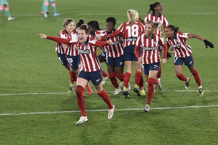Alegría desbordada en el Atlético de Madrid.
