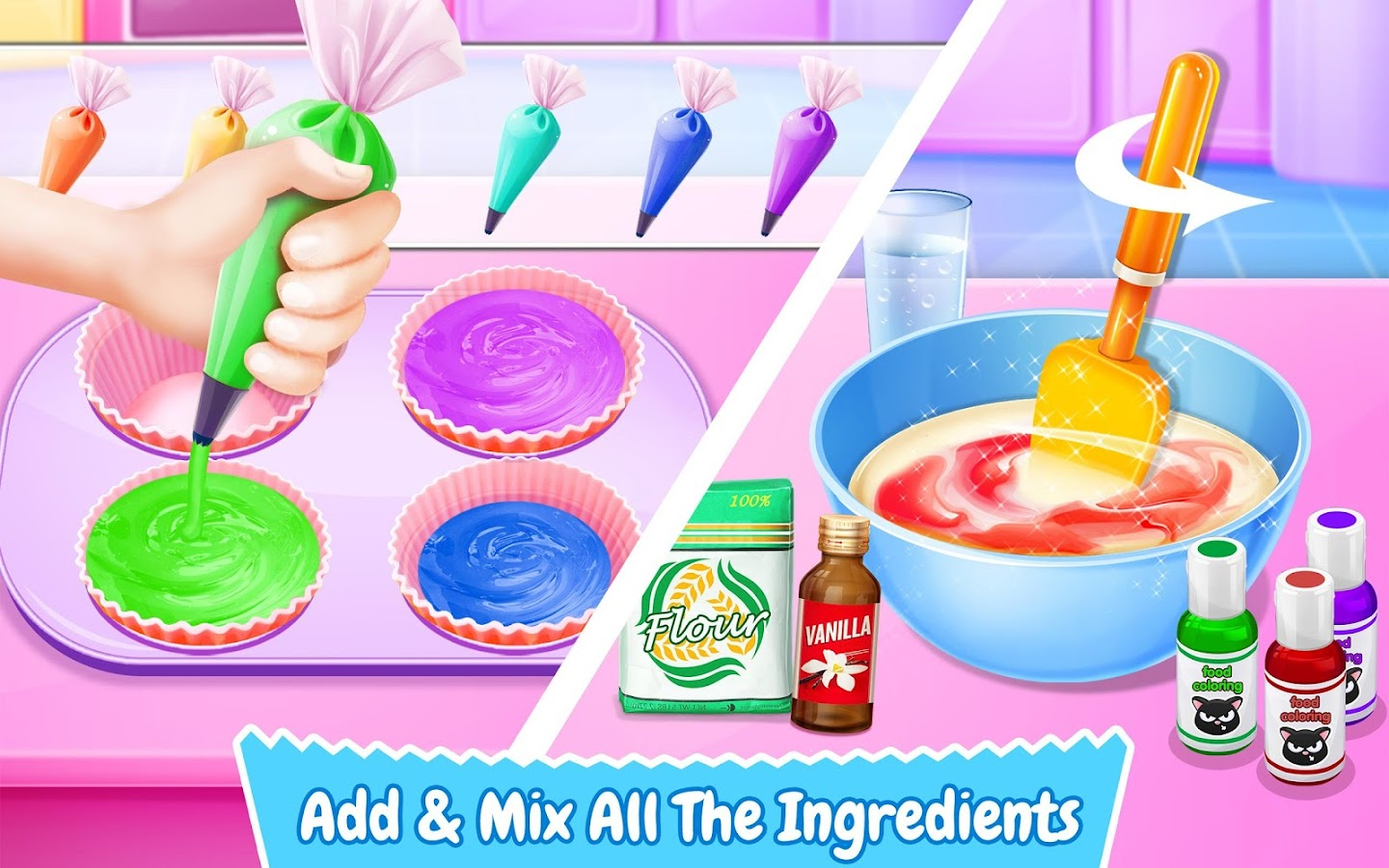 cupcake maker rainbow chef android apps on google play