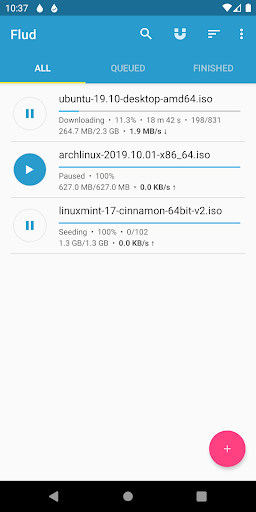 Flud - Torrent Downloader 1.4.9 screenshots 1