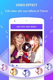 New Year Photo Video Maker 2018 - náhled