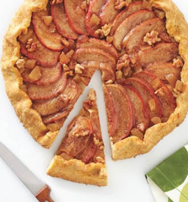 Apple-walnut-ginger Galette(low Cal)