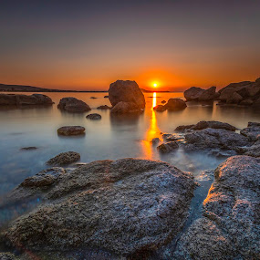 Black Sea Sunset by Mihail Marzyanov - Landscapes Waterscapes