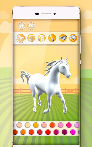 Horse Coloring Book 3D image   8