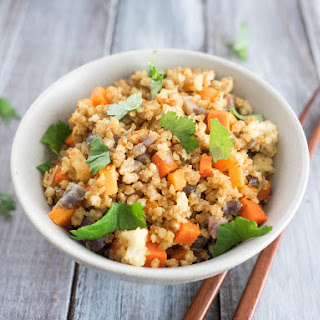 Fried Millet with Curry Cauliflower and Carrots Recipe