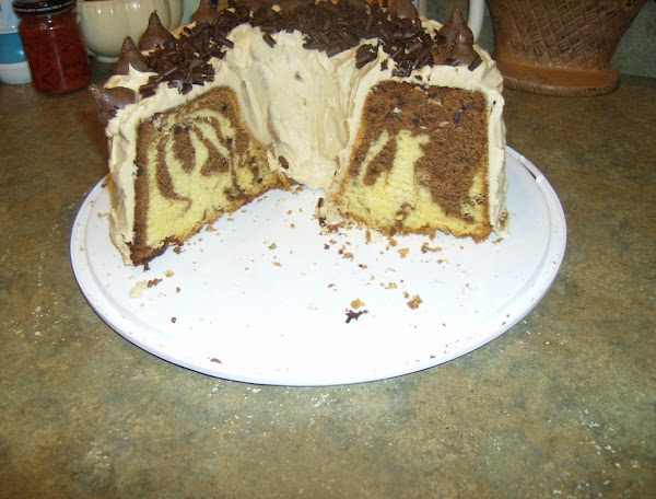 Chocolate Marble Sour Cream Pound Cake & Frosting