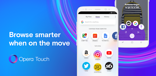 opera touch browser