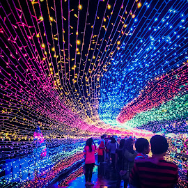 Light walk by Ej Hamizan - Instagram & Mobile iPhone ( light walk holiday colourfull people city park,  )