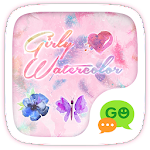 (FREE) GO SMS GIRLY WATERCOLOR THEME Icon