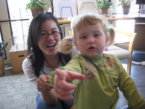 Photo: Leah and Yi-Wyn in Daddy's office