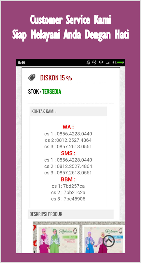 KiosBajuMuslimah- screenshot