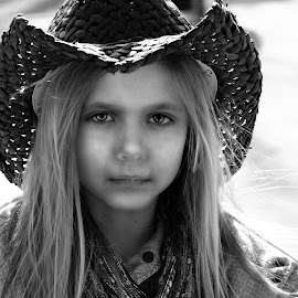 cowgirl by Julian Markov - Black & White Portraits & People