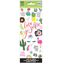 Me & My Big Ideas Stickers 411/Pkg - Love Yo Selfie