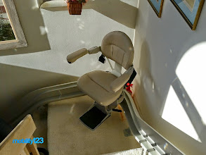 Photo: Custom Curved Stairlift | New Jersey
