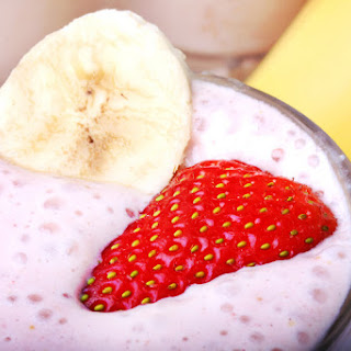 Skinny Banana Split Protein Smoothie.