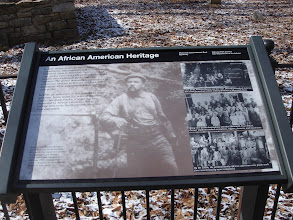 Photo: info about the cemetery and African American guides