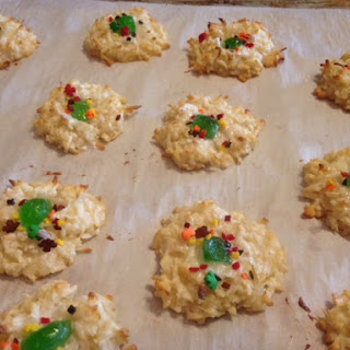 Fall or Christmas CHERRY COCONUT MACAROONS