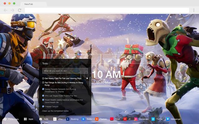 Fortnite Theme Pop Game HD New Tabs Theme
