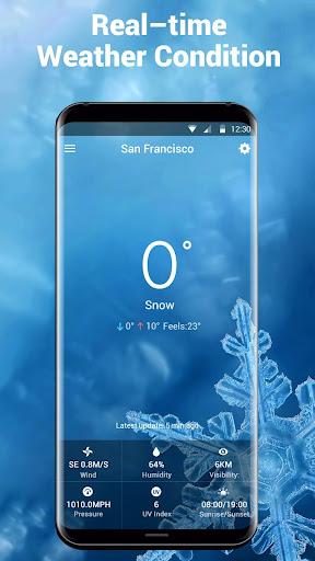 Transparent Weather Widget Raining  screenshots 3