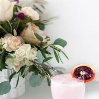 Blood Orange & Rose Creamsicle Cocktail.