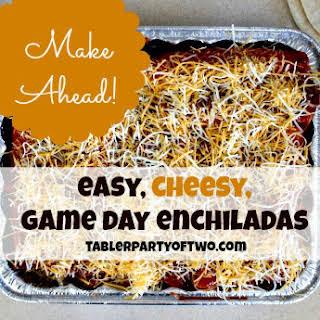 Easy Cheesy Game Day Enchiladas.