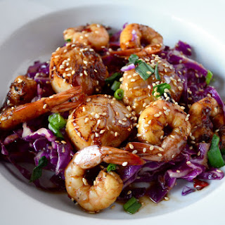 Asian Marinated Shrimp and Scallops.