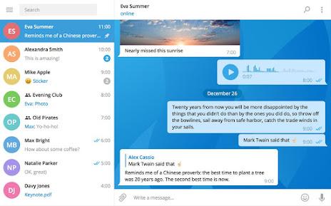Telegram 1.0. Mucho mas que una aplicación de mensajería. Ejemplo 5.
