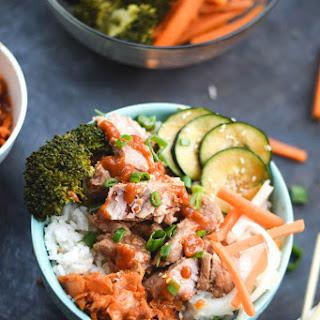 Spicy Korean Bulgogi Pork & Rice Bowls
