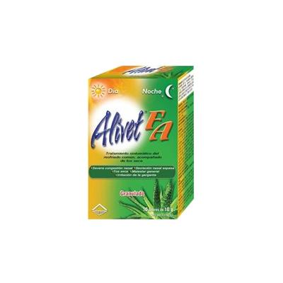 Acetaminofen + Clorferinamina + Pseudoefedrina Alivet FA 10g 10 sobres Leti 10 Sobres de Alivet