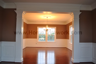 Photo: (After) Cirelli's dining room wainscot, and painting Perkasie, PA