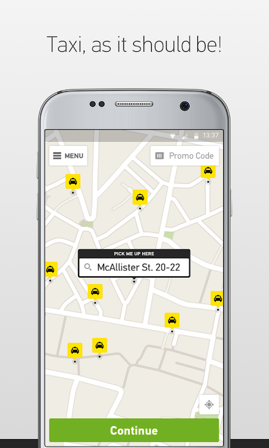 Taxibeat Free taxi app- screenshot