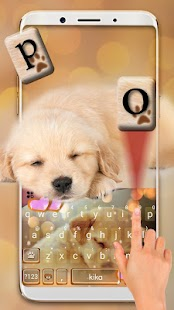 Dynamic Sleeping Puppy Keyboard Theme - náhled