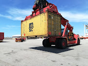 The container in which the cocaine was found at Coega harbour this week.