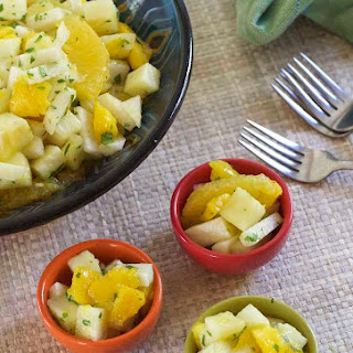 Jicama Fruit Salad with Cilantro and Lime.
