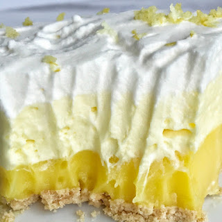 {no bake} Triple Layer Lemon Pudding Pie.