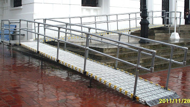 Photo: Ramp and handrails will not rust or corrode in the rain.
