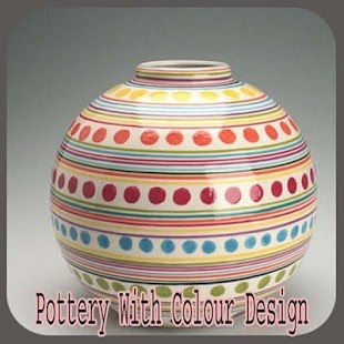 Pottery With Colour Design - náhled