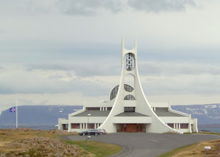 Photo: The design of a modern church was near our hotel.