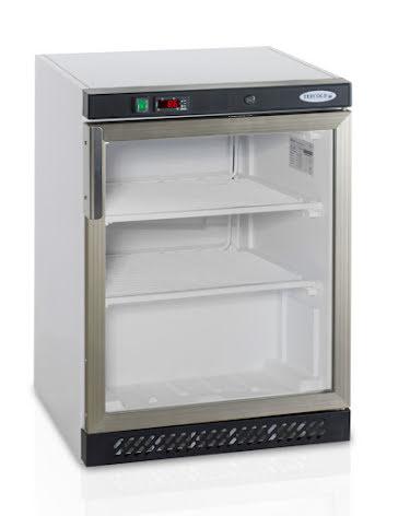 Frysskåp kompakt glasdörr inkl. 2 st hyllor UF200G Tefcold
