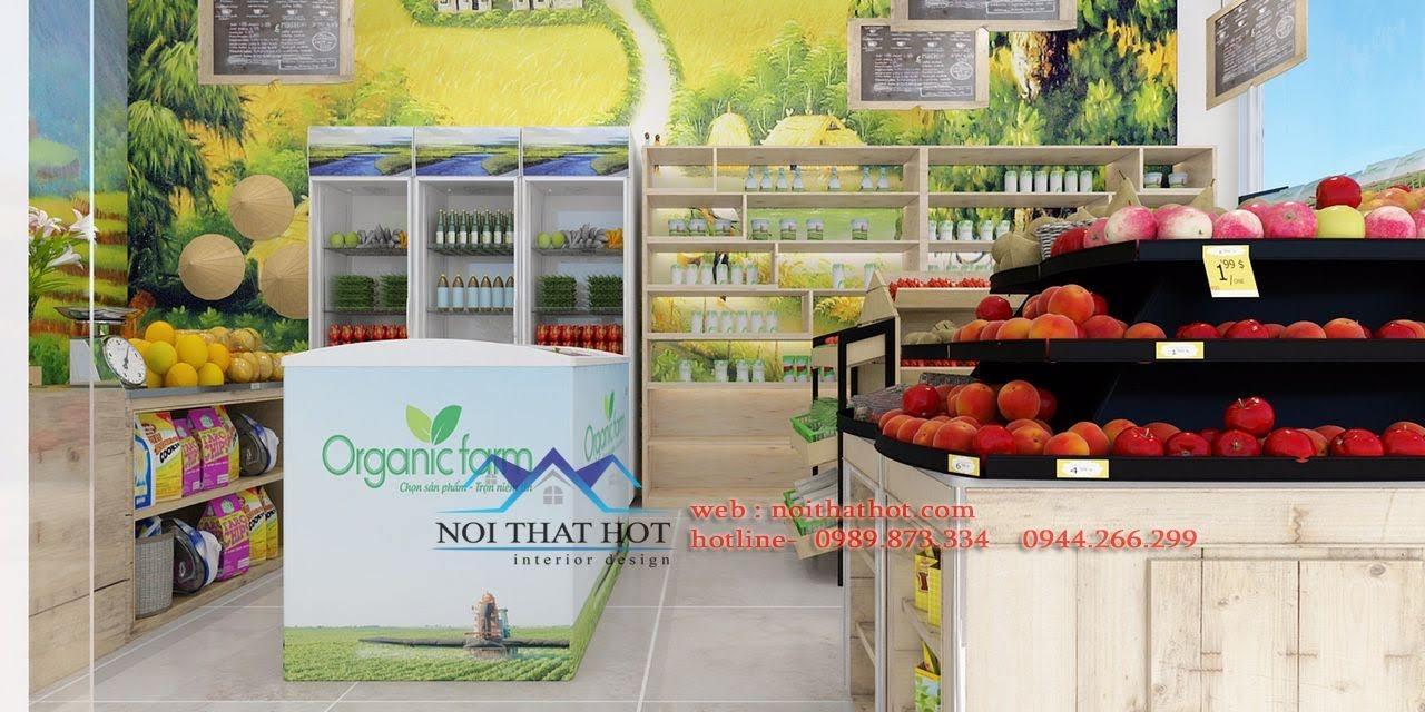 thiết kế cửa hàng hoa quả sạch 2