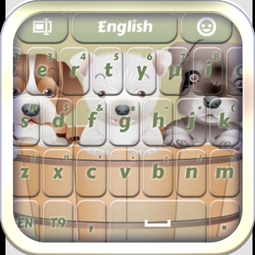 个人化の甘い子犬キーボード LOGO-記事Game
