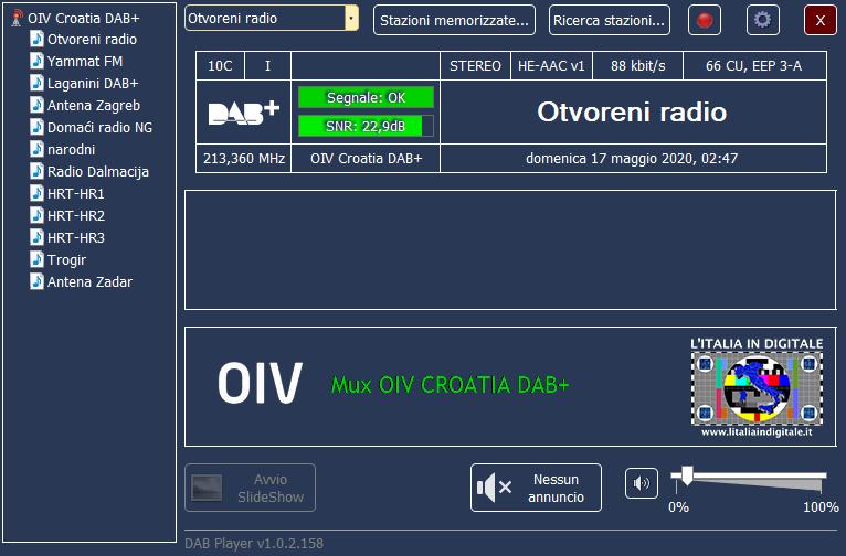 MUX OIV CROAZIA DAB+