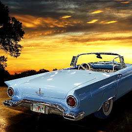 T-Bird by JEFFREY LORBER - Transportation Automobiles ( rust 'n chrome, car, lorberphoto, sports car )