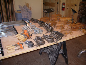 Photo: I layed a full sheet on a couple sawhorses and started to shuffle things around until I ended up with this...