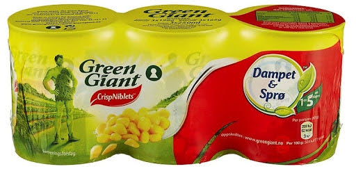 Green Giant Maisboks, 3 x 160 g
