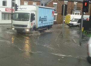 Photo: The Boston Rd corner after a torrential storm at the end of June.