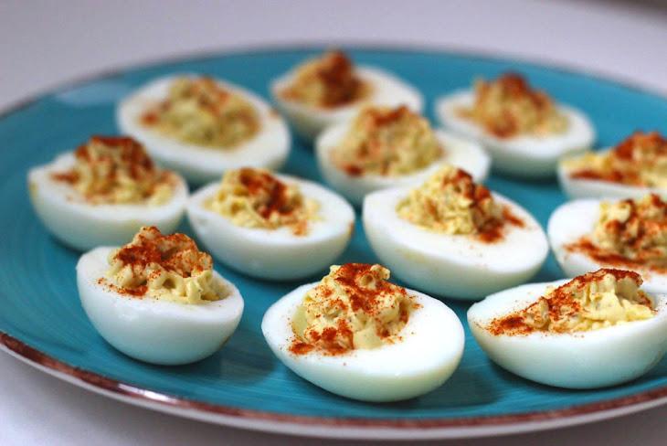 Skinny Wasabi Deviled Eggs Recipe