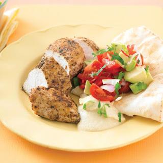 Sumac Chicken with Salad.